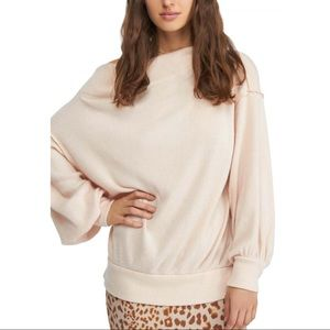 FREE PEOPLE Main Squeeze Knit Sweater Peach